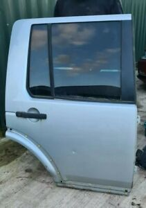 2004 - 2009 LAND ROVER DISCOVERY 3 O/S DRIVER SIDE REAR DOOR Silver