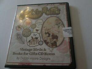 Sealed shabby chic Vintage Birds & Books for Gifts CD Roms