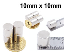 10mm x 10mm (approx) Magnets Strong Round N35 Grade Neodymium Block Cylinder