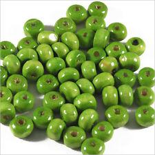 Lot de 100 perles rondes en Bois 6mm Vert Anis