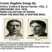 COMIC RAGTIME DUETS - ARTHUR COLLINS AND BYRON HARLAN VOL2 - New CD