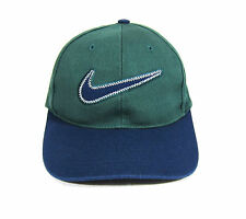 90S VTG NIKE BIG SWOOSH TWO TONE 6 PANEL STRAPBACK HAT OG CAP AIR MAX SKATE 96