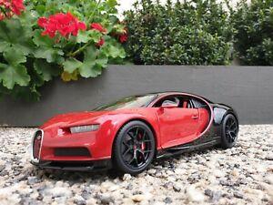Maisto Bugatti Chiron Sport Diecast Black And Red 1:18  Maisto Special Edition