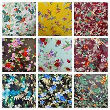 Rayon Challis Hawaiian Print By the Yard 58 inches Wide Fabric Soft & Flowy LOT