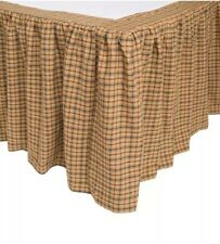 Vhc Brands Millsboro King Size Bed Skirt 78�x80� With 16� Drop Lenght Tan Multi