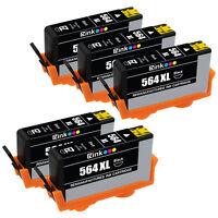 5PK Ink Cartridge For HP 564XL 564 XL Black Photosmart C5370 C5383 D5400 D7560