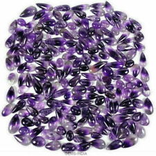 7000 Cts 546 Pcs Natural Amethyst Cabochon Cut Top Purple Loose Gemstones Parcel