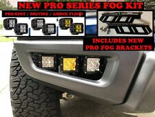 2017-2019 Ford F-150 Raptor LED PRO w/Amber Fog lights light Kit Rigid 2018 18