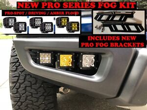 2017-2020 Ford F-150 Raptor LED PRO w/Amber Fog lights light Kit Rigid 2019 18