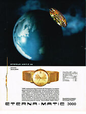 PUBLICITE ADVERTISING 035  1964   ETERNA-MATIC 3000  DATO   collection montres
