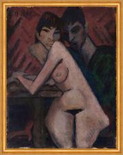 Paar am Tisch Doppelporträt m. Maschka Expressionismus Otto Mueller Kunst A1 155