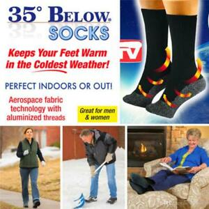 35 Below Unisex One Pair Thermal Winter Aluminized Socks Black Blue Red Pink