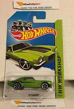 '70 Camaro #231 * Green * 2014 Hot Wheels * G18