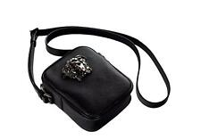 Versace Palazzo Medusa Head Saffiano Leather Cross Body Bag DL25966-DPVCG Black