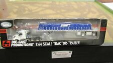 DCP #32955 SWIFT TRANSPORTATION VOLVO SEMI TRUCK TARPED FLATBED TRAILER 1:64/ FC