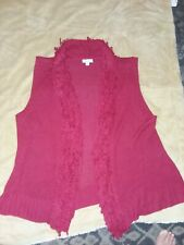 Kim Rogers Women Size 3X red sleeveless sweater New without tags