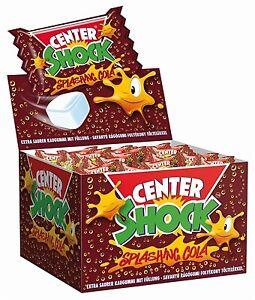 (1,00€/100g) Center Shock Cola 100x4g - Saurer Kaugummi mit Füllung