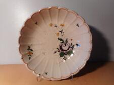 Jatte saladier faience ancienne 19 siécle rose manganèse céramique française