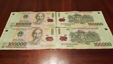 1 Million Dong 100,000 x 10 notes same as 500,000 VND x 2 Vietnam Circ IQD ZIM