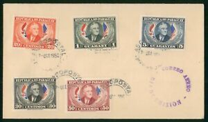 Mayfairstamps Paraguay FDC 1950 President Roosevelt and Flags Combo First Day Co
