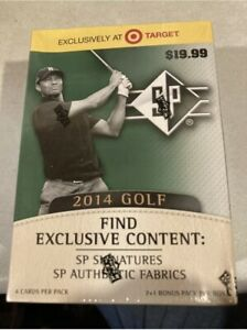 2014 UPPER DECK SP AUTHENTIC GOLF FACTORY SEALED BLASTER BOX   TIGER WOODS AUTO?