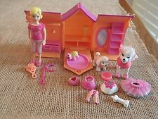 Polly Pocket Dog House Pet Girl Doll Puppy Accessories Lot Orange Turtle H35