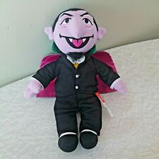 Fisher Price Sesame Count Von Count 2009 40th Year Plush Stuffed Toy 10 in