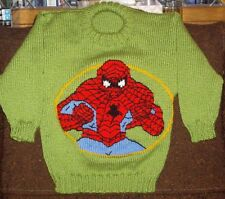 SPIDERMAN  JUMPER  NEW HAND KNITTED SIZE 4/5