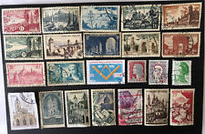 France Stamps - 54 Mostly Pictorial Commemoratives Mid 1900s. Used.