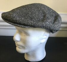 Vintage Newsboy Hat Cap Gray Union Made in USA Size 7 1/4 7 3/8