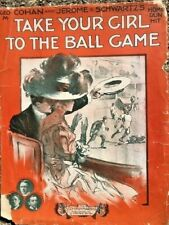 1908 BASEBALL partial sheet music TAKE YOUR GIRL TO THE BALL GAME GEORGE COHAN