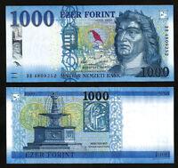 HUNGARY 1000 FORINT 2017 UNC P-NEW