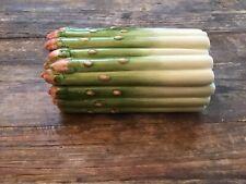 New ListingVintage Fitz & Floyd Ceramic Asparagus Covered Dish Trinket Box With Lid