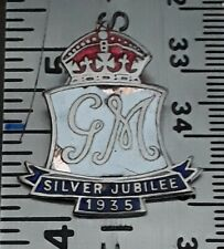 King George V 1935 Silver Jubilee Pin Made in Britain (Missing Pins)
