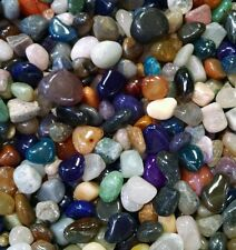 1 lb Small Natural Tumbled Gemstone Mix 90-130 Pieces Assorted Bulk Gems Rocks