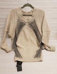 Patrizia Pepe Long Sleeves Sweaters Women, Cosmic Latte, UK 10 RRP £325