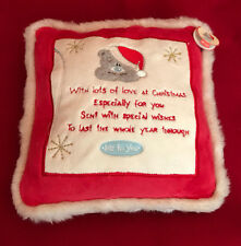 ME TO YOU BEAR TATTY TEDDY CHRISTMAS VERSE CUSHION PILLOW - GIFT