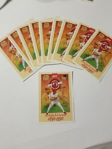LOT OF 10 St. Louis Cardinals 100th Anniversary Coca-Cola Postcard FREE SHIPPING