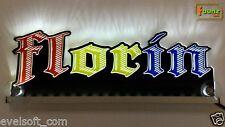 "LED LKW Leuchtschild Namensschild ""Florin"" Wunschname 12 24V mehrfarbig foliert"