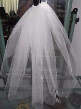 ELEGANT CUT EDGE BRIDAL VEIL, 40 cm Shoulder Length,White, Ivory, Black,NEW,Aust