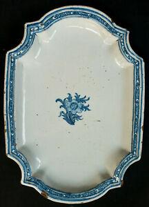 Grand plat en faience de Samadet camaieu bleu 18ème