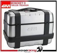 GIVI TRK33N TREKKER 33 Lt Monokey Case duro bolso con Aluminium Finish