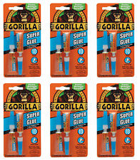 Gorilla Glue 7800101 Super Glue 3g 2 Tube Pack, 6-Pack-12 Tubes Total *