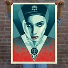 Shepard Fairey JUSTICE WOMAN (BLUE) SIGNED & NUMBERED SCREEN PRINT Obey Giant