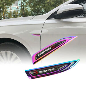 2x Mazdaspeed Neo Chrome Metal Emblem Car Trunk Side Wing Fenders Badge Sticker