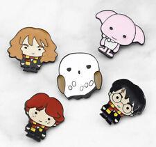 Harry Potter Enamel Lapel Pin Badge - Harry, Hermione, Ron, Dobby, Hedwig