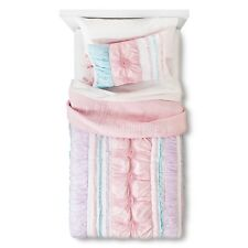 Sheringham Road KENNEDY 2 PIECE Quilt Set TWIN  PINK WHITE GIRLS SHAM  SOLD OUT