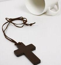 2x Retro Fashion Ancient Cute Wooden Christian Religous Cross Necklace PendantLJ