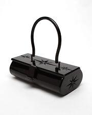 Rare Lux De Ville Lucite Box Purse - Black