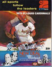 1975 Baseball program Cincinnati Reds @ St. Louis Cardinals, unscored ~ VG